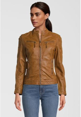 7eleven Lederjacke »Sassari«, mit stilvollen Reißverschlusstaschen kaufen