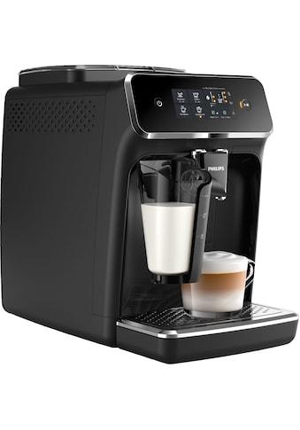 Philips Kaffeevollautomat 2200 Serie EP2231/40 LatteGo, klavierlackschwarz, 1,8l Tank, Scheibenmahlwerk kaufen
