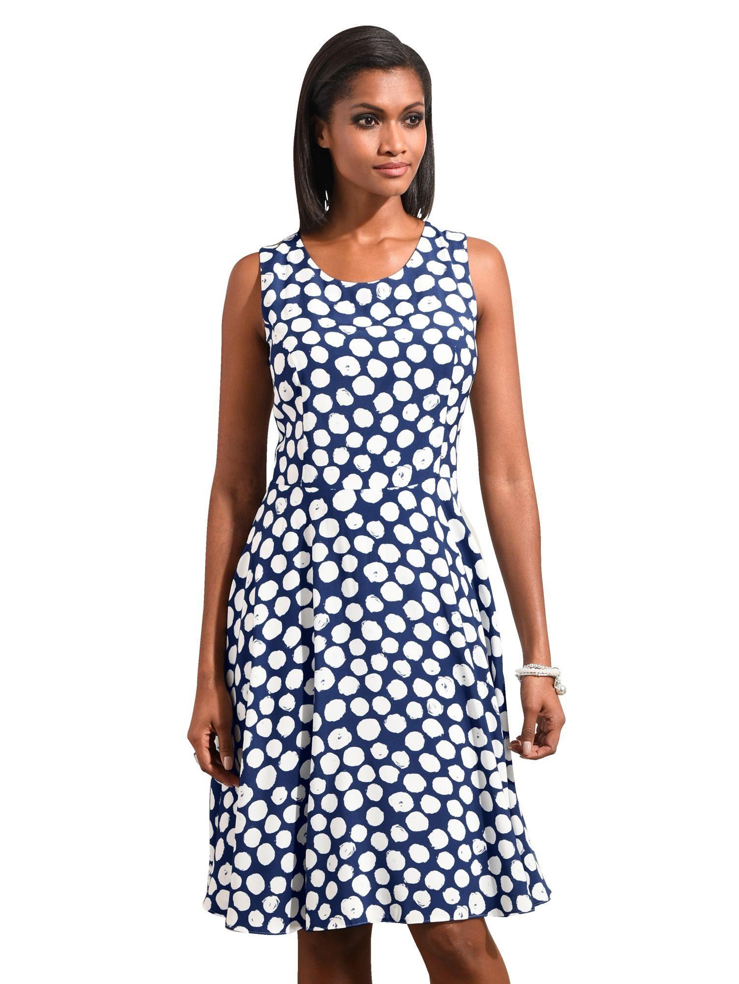 Alba Moda Kleid mit femininem Tupfenmuster
