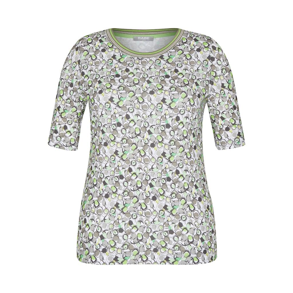 Rabe T-Shirt, mit grafischem Muster und Kontrastbesatz
