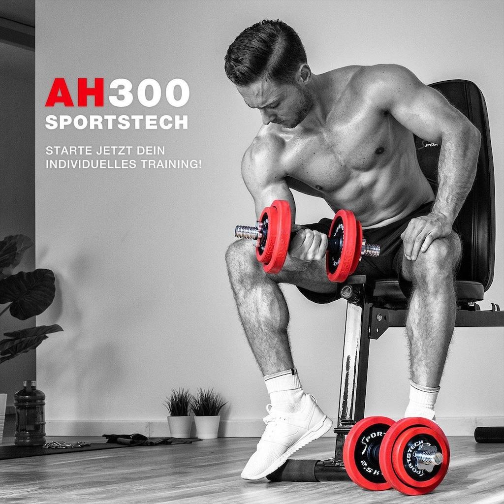 Sportstech Hantel-Set, 20 kg, (Set, 23 tlg., mit Kurz- und Langhantelstange)