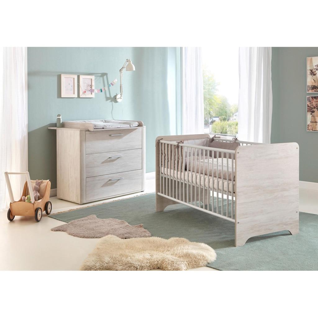 arthur berndt Babymöbel-Set »Leon«, (Spar-Set, 2 St.), mit Kinderbett und Wickelkommode; Made in Germany