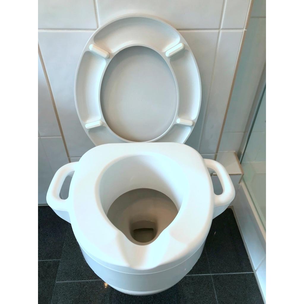 Bischof WC-Sitz »Toiletten-Aufsatz«, SItzerhöhung mit Griffen