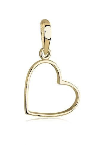 Elli Kettenanhänger »Herz Liebe 375 Gelbgold« kaufen