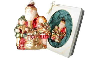 """Krebs Glas Lauscha Christbaumschmuck """"Weihnachtsmann mit Sack und Kindern"""" (1 - teilig) kaufen"""