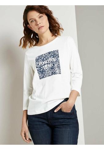 TOM TAILOR Langarmshirt »Fotoprint Langarmshirt « kaufen
