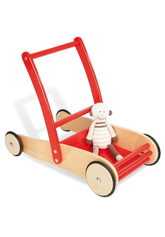 Pinolino® Lauflernwagen »Uli, Natur/Rot«, aus Holz kaufen