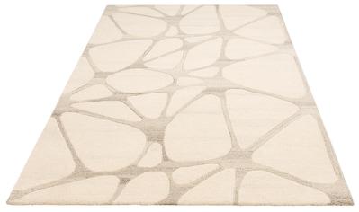 Theko Exklusiv Wollteppich »Almina«, rechteckig, 14 mm Höhe, reine Wolle, Handgearbeiteter Konturenschnitt, Wohnzimmer kaufen
