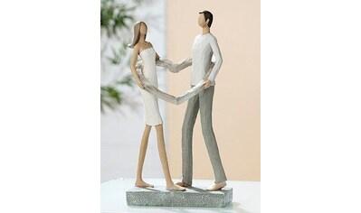 GILDE Dekofigur »Skulptur Liebespaar Herz-Ring«, Dekoobjekt, Höhe 25,5 cm, handbemalt,... kaufen