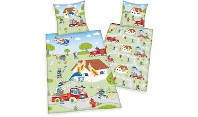 """Kinderbettwäsche »Young Collection """"Feuerwehr""""«, Herding Young Collection kaufen"""