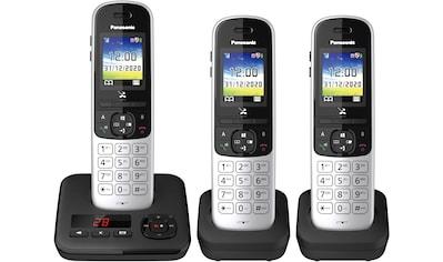 Panasonic Schnurloses DECT-Telefon »KX-TGH723 Trio«, (Mobilteile: 3 ), mit Anrufbeantworter kaufen