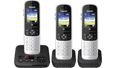 Panasonic »KX - TGH723 Trio« Schnurloses DECT - Telefon (Mobilteile: 3) kaufen
