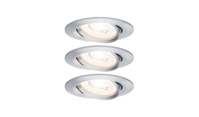 Paulmann LED Einbaustrahler »dimmbar IP23 Alu 6,8W Reflector Coin schwenkbar Reflector Coin schwenkbar«, 3 St., Warmweiß kaufen