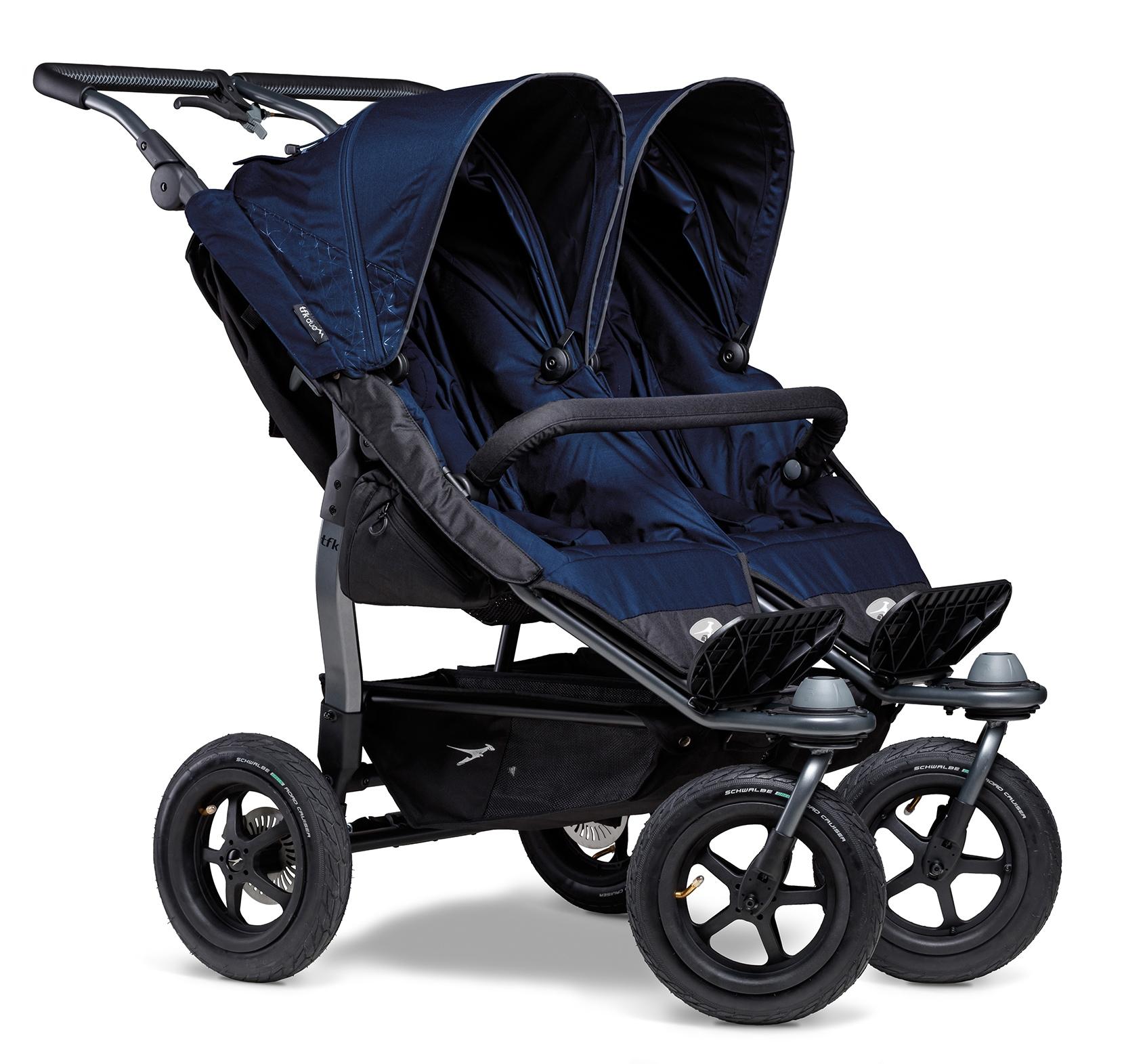 tfk Zwillingsbuggy Sportkinderwagen duo blau Kinder Kinderwagen Buggies