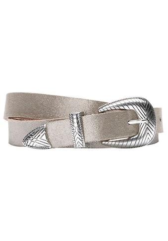 Herrlicher Ledergürtel mit Metallic-Finish kaufen