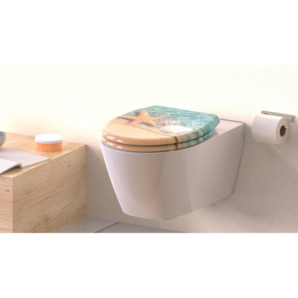 welltime WC-Sitz »Seestern«, mit Absenkautomatik, abnehmbar