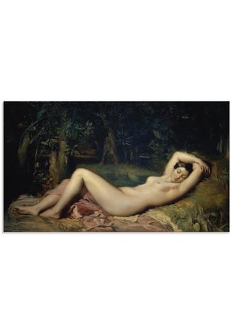 Artland Glasbild »Schlafende Nymphe.«, Frau, (1 St.) kaufen