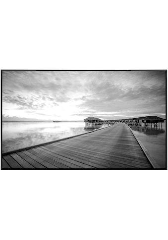 Papermoon Infrarotwandheizung »Steg im Wasser Schwarz & Weiß«, sehr angenehme... kaufen