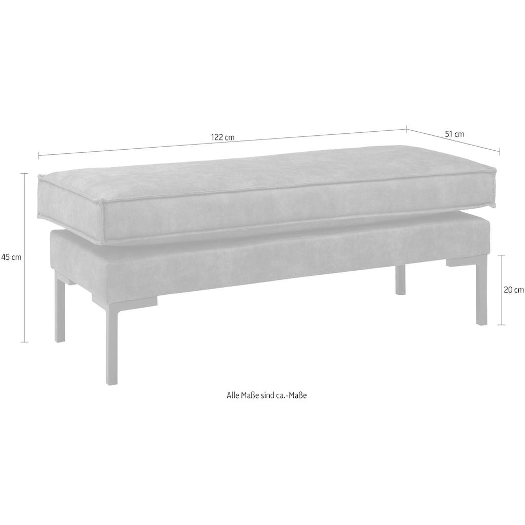 Leonique Hocker »Drace«, Sitzbank verziert mit einem umlaufenden Keder, schlanke Metallfüße, gepolstert