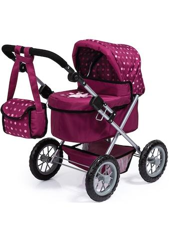 Bayer Puppenwagen »Trendy, bordeaux«, mit Wickeltasche kaufen