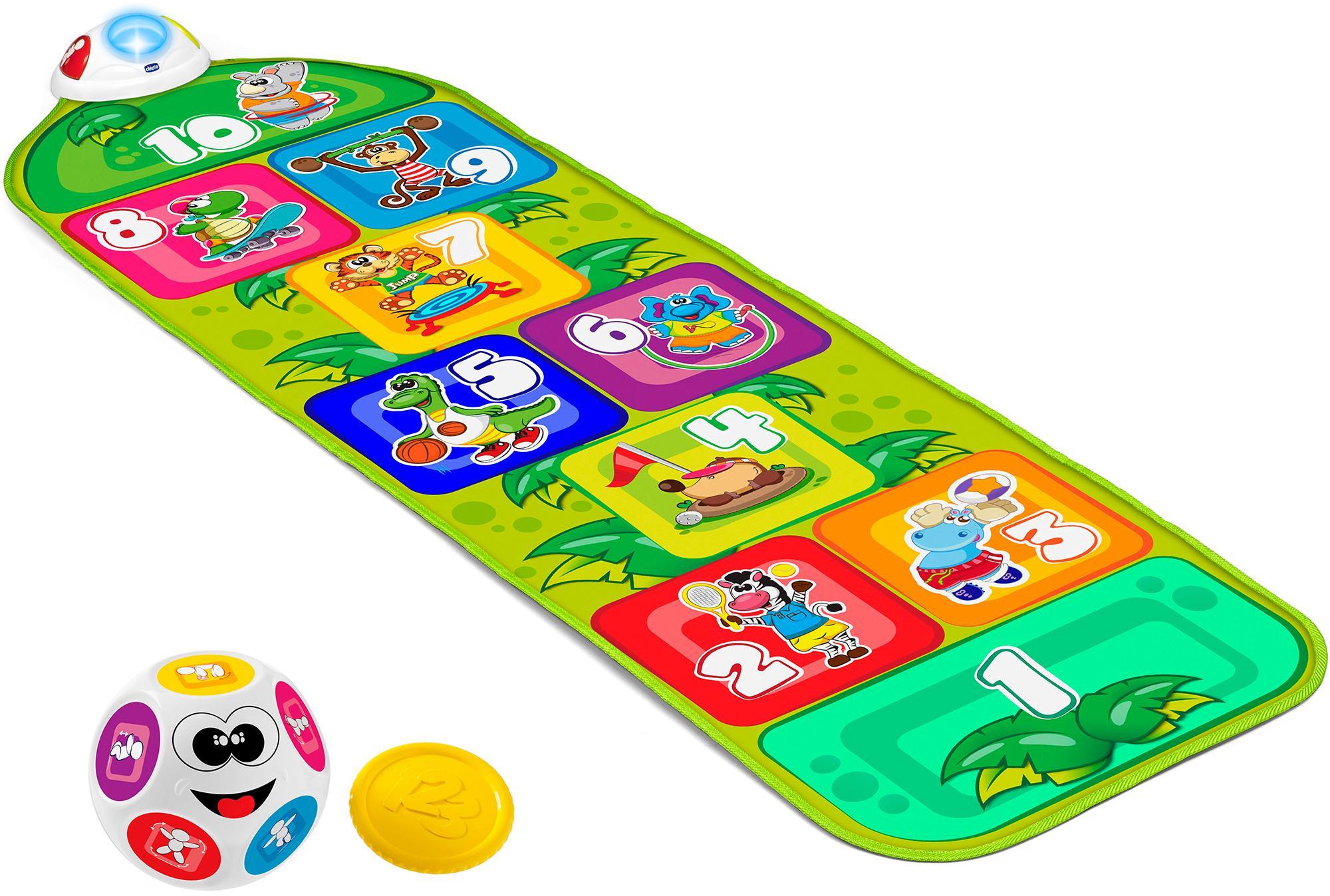 Chicco Spielmatte, Elektronische Hüpfmatte bunt Kinder Ab 2 Jahren Altersempfehlung Lernspielzeug