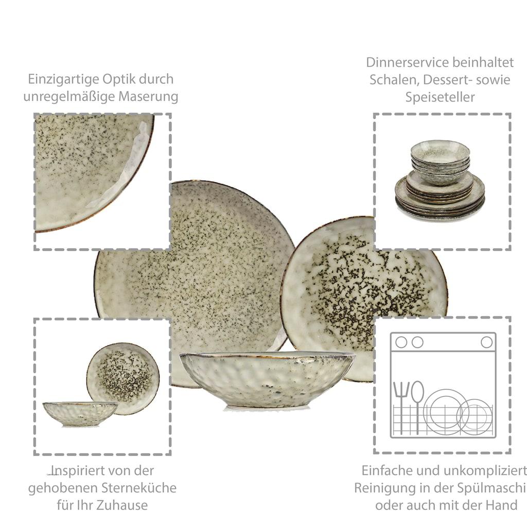 SÄNGER Kombiservice »Pompei«, (12 tlg., Kombiservice Pompei aus Porzellan 12 teilig)