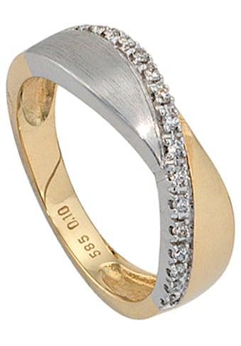 JOBO Diamantring, 585 Gold bicolor mit 16 Diamanten kaufen