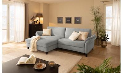 DELAVITA Ecksofa »Avatar«, auch mit Bettfunktion, Bettkasten und elektrischer Vorziehfunktion, in 4 Bezugstoffen und vielen Farben, Recamiere wahlweise links oder rechts bestellbar kaufen