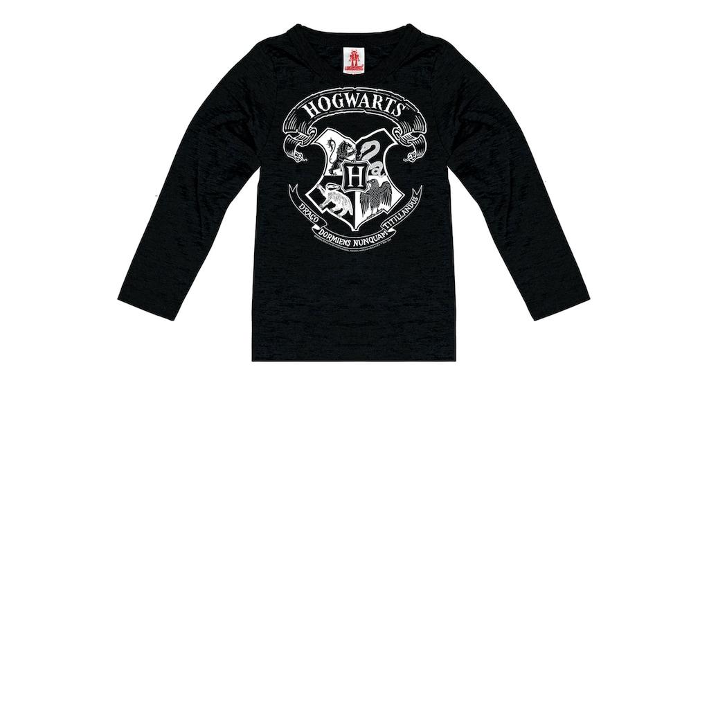 LOGOSHIRT Langarmshirt, mit tollem Hogwarts-Print