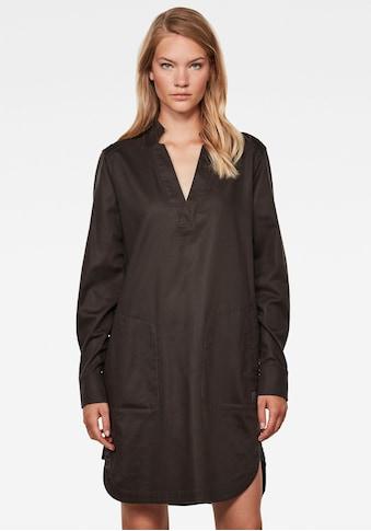 G-Star RAW Blusenkleid »Milary Shirt Kleid«, mit offenen Poloausschnitt und kleinem Stehkragen kaufen
