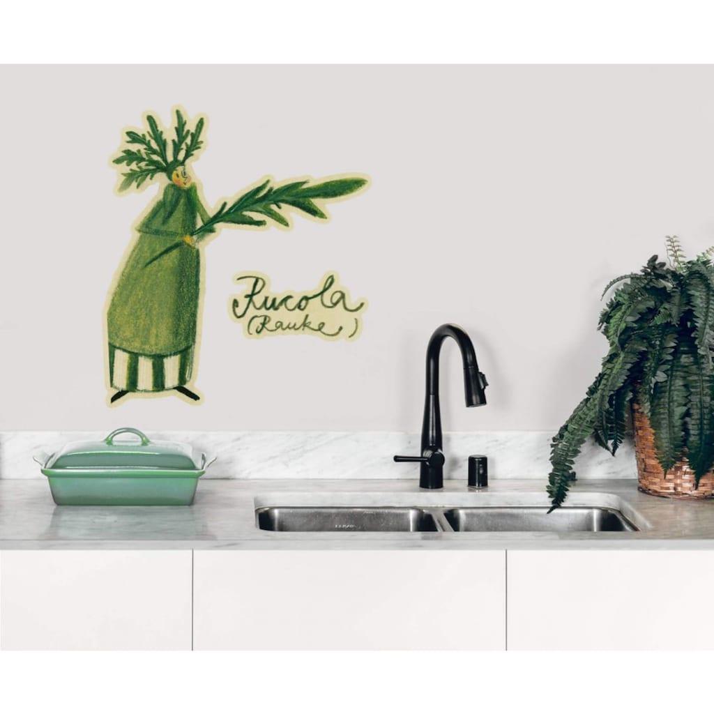 Wall-Art Wandtattoo »Kräuterfrau Küche Rucola«