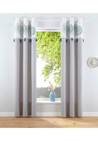 Home affaire Vorhang »Circle«, Nachhaltig kaufen