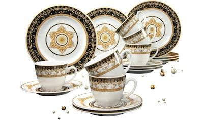 CreaTable Kaffeeservice »Majestosa«, (Set, 18 tlg.), Dekor schwarz abgesetzt,... kaufen