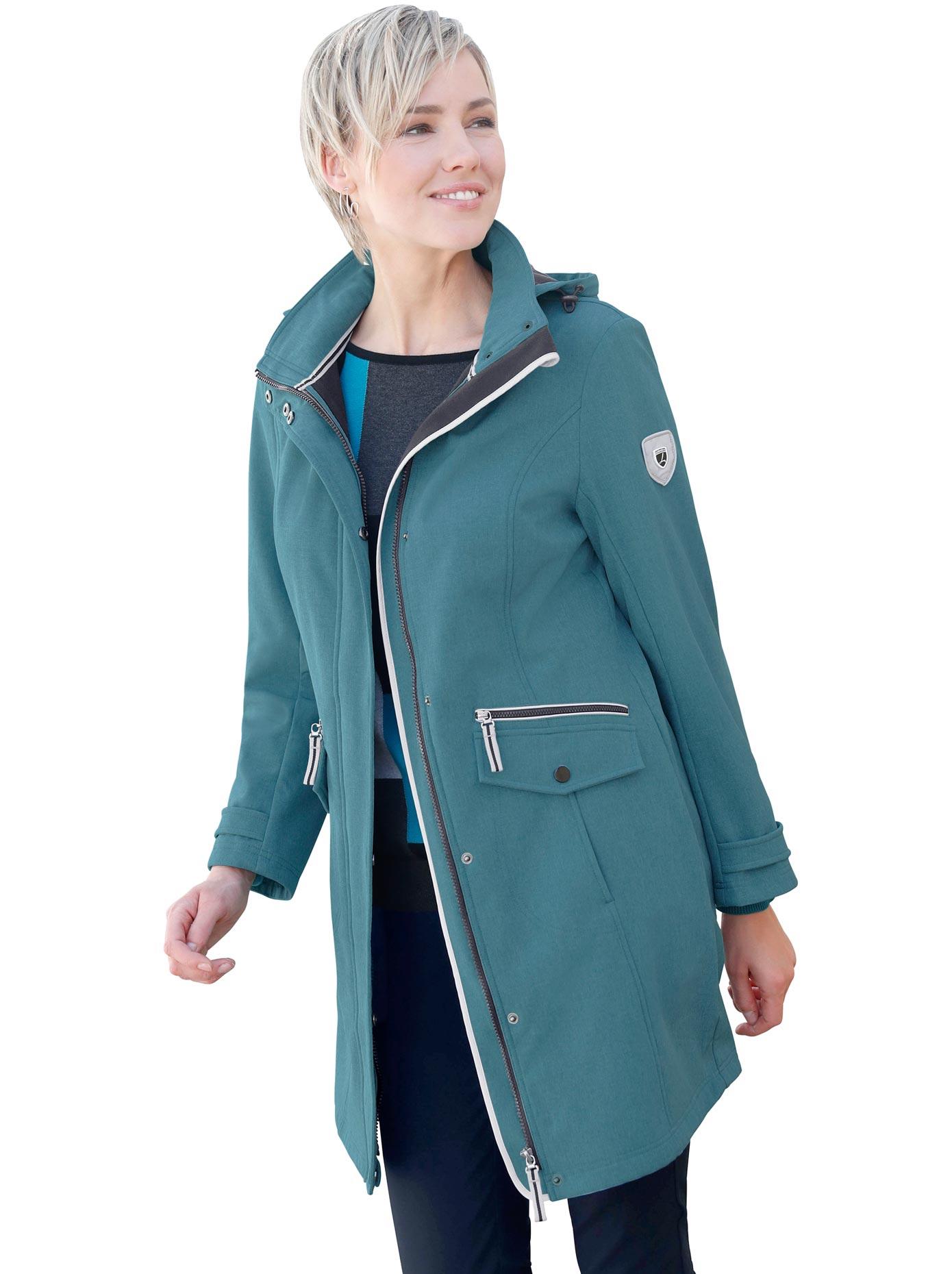 Casual Looks Softshelljacke mit Stehkragen | Bekleidung > Jacken > Softshelljacken | Grün | Fleece | Casual Looks