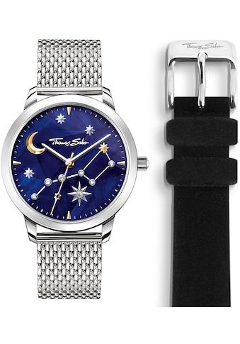 THOMAS SABO Quarzuhr »SET_WA0372-217-209«, (Set, 2 tlg., Uhr mit schwarzem... kaufen