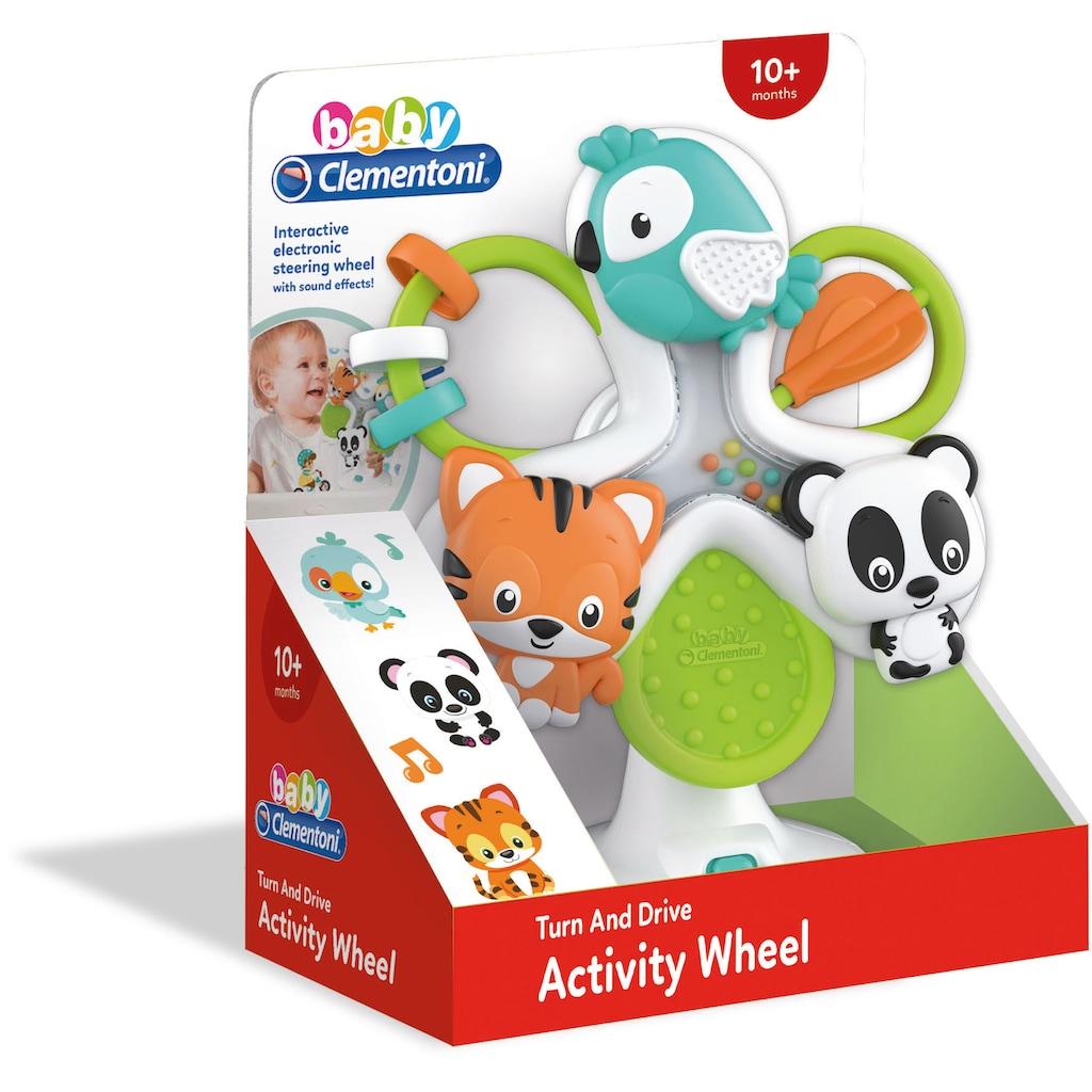 Clementoni® Greifspielzeug »Aktivitäts-Rad mit Tieren«, mit Sound