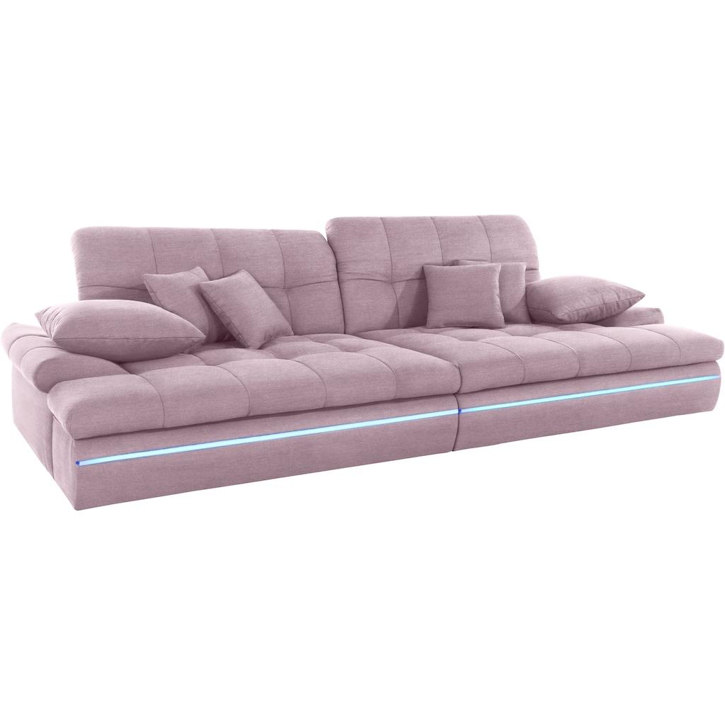 Nova Via Big-Sofa, wahlweise mit Kopfteilverstellung und RGB-LED-Beleuchtung