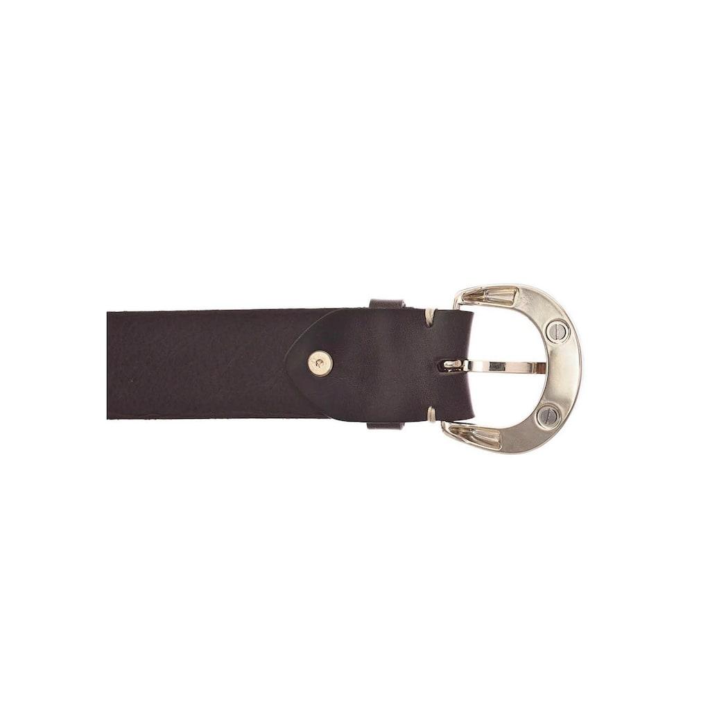 b.belt Ledergürtel, Schließe mit Animal-Design