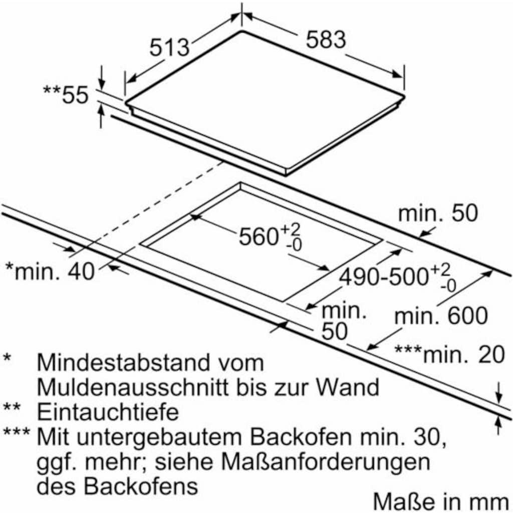 SIEMENS Induktions-Kochfeld von SCHOTT CERAN®, EH645BEB1E, mit Timer