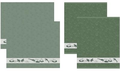 DDDDD Geschirrtuch »Froggy«, (Set, 4 tlg., Combi-Set: bestehend aus 2x Küchentuch + 2x... kaufen