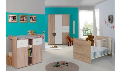 BMG Babyzimmer-Komplettset »Maxim«, (Set, 3 St.), Bett + Wickelkommode + 4-trg. Schrank kaufen