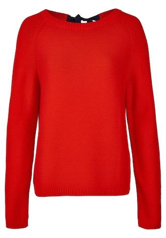 Daniel Hechter Modischer Pullover mit Schleife am Rücken kaufen