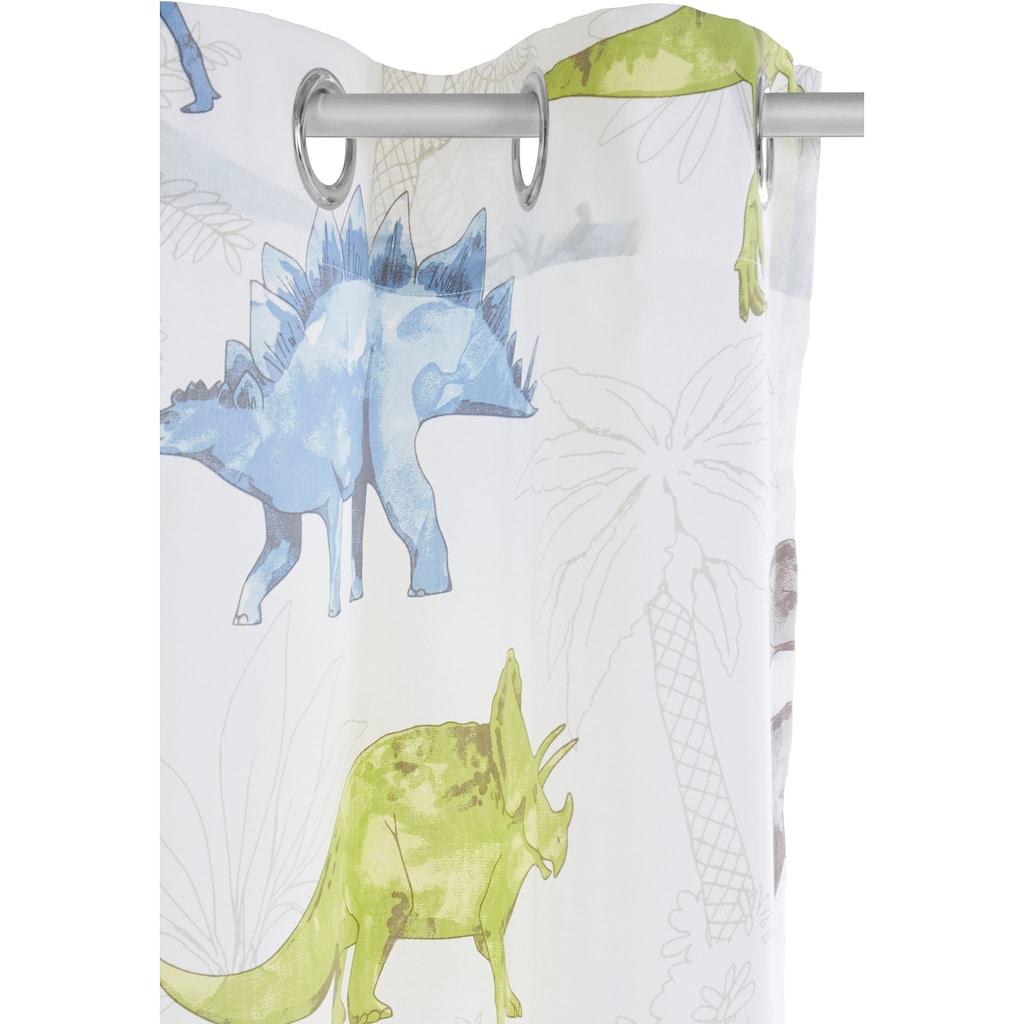 Lüttenhütt Gardine »Dino«, Nachhaltige Kindergardine