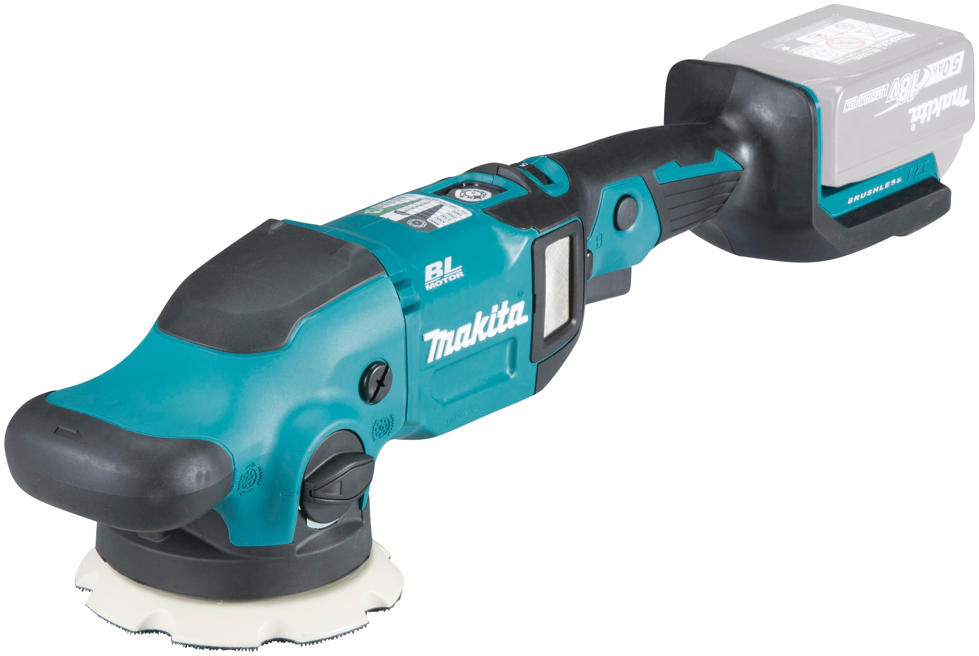 Makita Akku-Poliermaschine DPO500Z, 18 V, speziell zur Auto-Politur entwickelt grün Profi-Werkzeug Werkzeug Maschinen