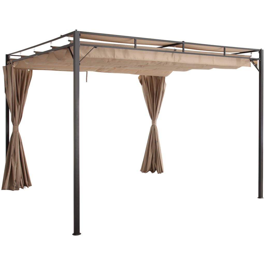 KONIFERA Pavillon »Milos«, (Set), BxT: 300x300 cm