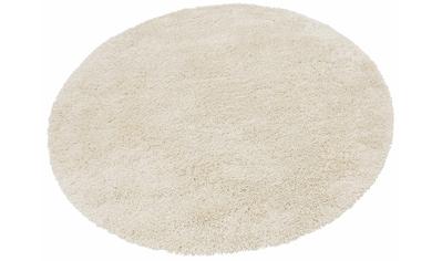 Hochflor - Teppich, »Denver«, merinos, rund, Höhe 50 mm, maschinell gewebt kaufen