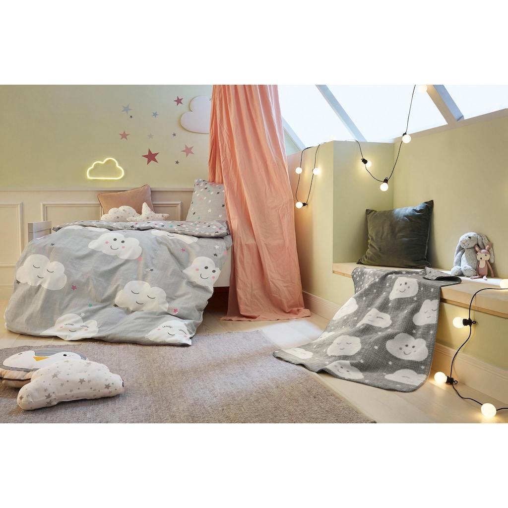 s.Oliver Junior Kinderbettwäsche »Clouds«, mit Wolken und Sternen
