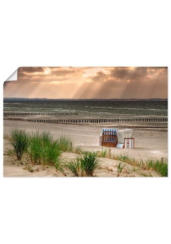 Artland Wandbild »Schwarzer Busch Strand auf Insel Poel«, Strand, (1 St.), in vielen Größen & Produktarten - Alubild / Outdoorbild für den Außenbereich, Leinwandbild, Poster, Wandaufkleber / Wandtattoo auch für Badezimmer geeignet kaufen