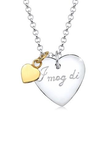 """Elli Collierkettchen »Herz Wiesn """"I mog di"""" Bi Color 925 Silber« kaufen"""