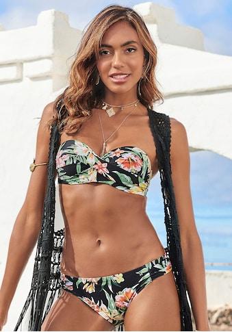 s.Oliver Bügel-Bandeau-Bikini, mit aktuellem Tropenprint kaufen